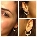 Halo Sterling Silver Earrings Fresh..